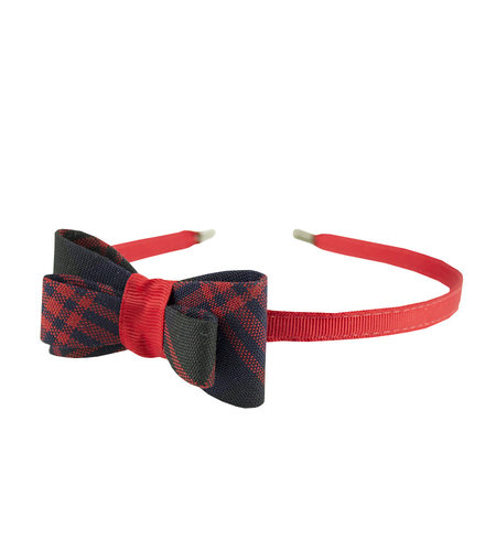 EE Dee Trim Cambridge Plaid #6B Bow Headband #FBE9HB
