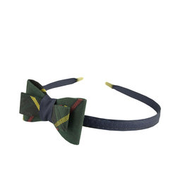 EE Dee Trim Aberdeen Plaid #5L Bow Headband #FBE9HB