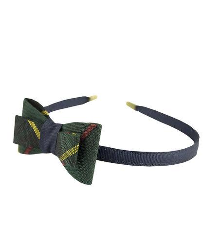EE Dee Trim Aberdeen Plaid #5L Bow Headband #FBE9HB