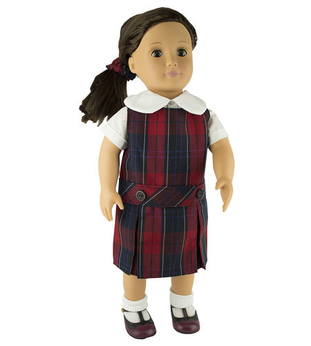 EE Dee Trim Woodland Plaid #94 Doll Jumper #FBE62