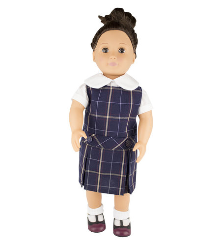 EE Dee Trim Melrose Plaid #6A Doll Jumper #FBE62