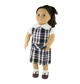 EE Dee Trim Plymouth Plaid #2M Doll Jumper #FBE62