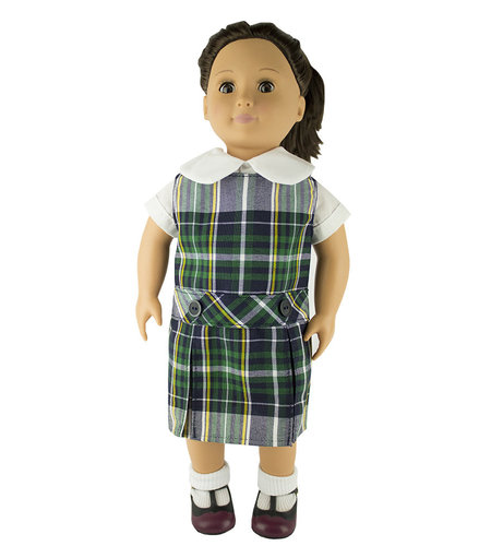 EE Dee Trim Christopher Plaid #1B Doll Jumper #FBE62