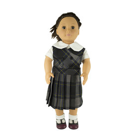 EE Dee Trim Daulton Plaid #87 Doll Jumper #FBE62DBP
