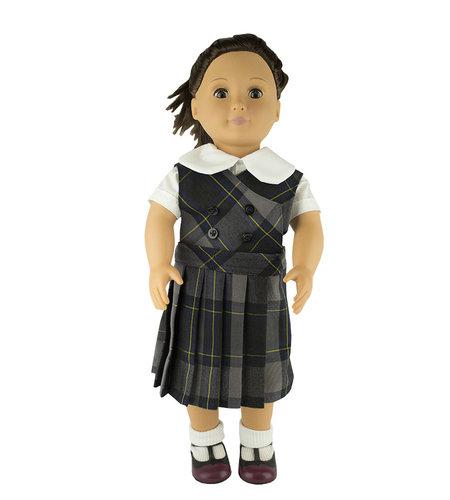 EE Dee Trim Daulton Plaid #87 Doll Jumper #FBE62DBP
