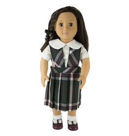 EE Dee Trim Sequoia Plaid Doll Jumper #FBE62P