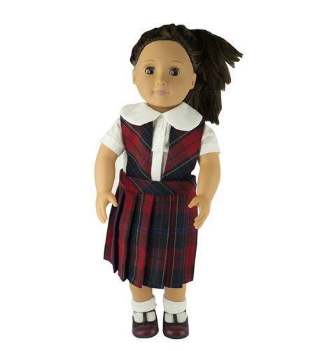 EE Dee Trim Woodland Plaid #94 Doll Jumper #FBE62P