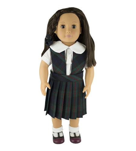 EE Dee Trim Lewis Plaid #88 Doll Jumper #FBE62P