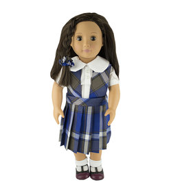 EE Dee Trim Graham Plaid #73 Doll Jumper #FBE62P