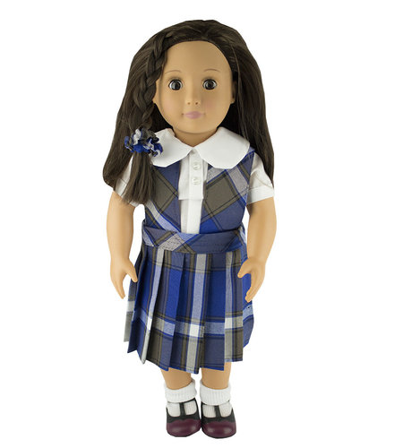 EE Dee Trim Graham Plaid #73 Doll Jumper #FBE62P