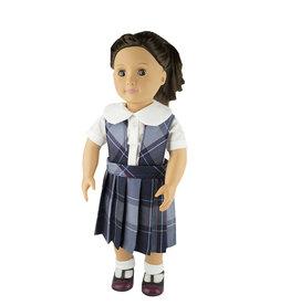 EE Dee Trim Dunbar Plaid #82 Doll Jumper #FBE62P