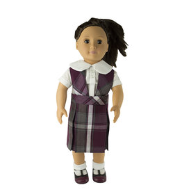 EE Dee Trim Rodrick Plaid #54 Doll Jumper #FBE80