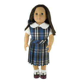 EE Dee Trim Rampart Plaid #29 Doll Jumper #FBE94