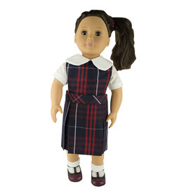 EE Dee Trim Hamilton Plaid #36 Doll Jumper #FBE130