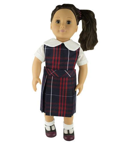 EE Dee Trim Hamilton Plaid #36 Doll Jumper #FBE130