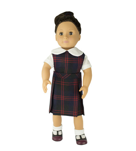 EE Dee Trim Cambridge Plaid #6B Doll Jumper #FBE130