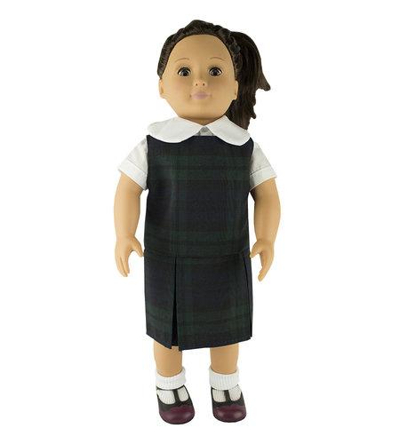 EE Dee Trim Blackwatch Plaid #79 Doll Jumper #FBE133