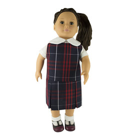 EE Dee Trim Hamilton Plaid #36 Doll Jumper #FBE133