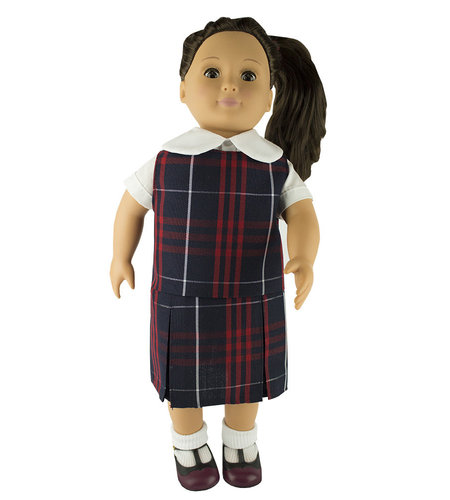 EE Dee Trim Hamilton Plaid #36 Doll Jumper #FBE133