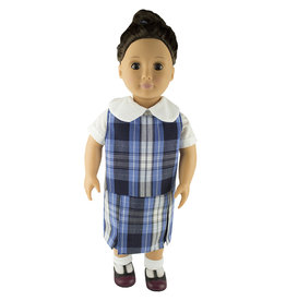 EE Dee Trim RR Plaid #76 Doll Jumper #FBE133