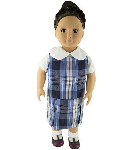 EE Dee Trim RR Plaid #76 Doll Jumper #FBE133