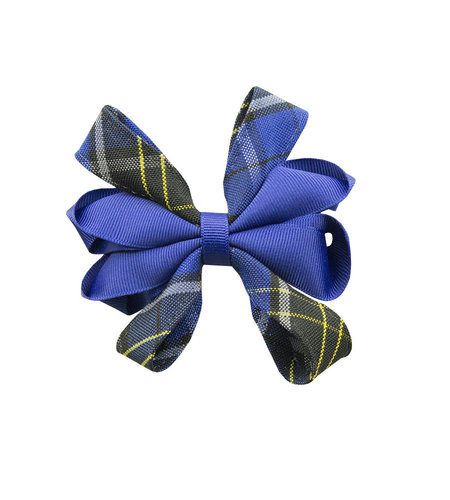 EE Dee Trim Mayfair Plaid #92 Carnival Bow #FBE67