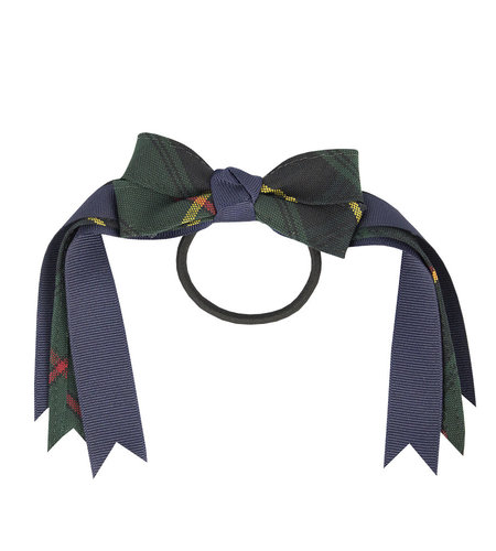 EE Dee Trim Aberdeen Plaid #5L Loop Bow #FBE78M