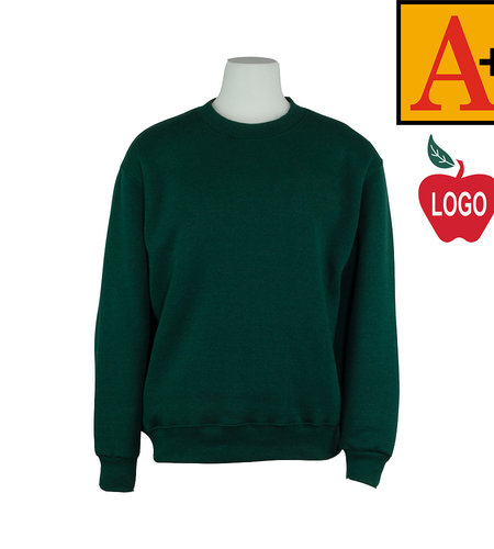 School Apparel A+ Green Crew-neck Sweatshirt #6254