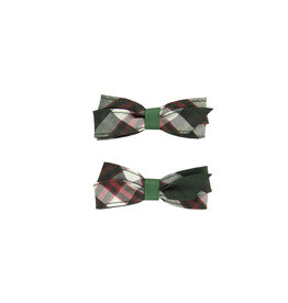 EE Dee Trim Sequoia Plaid Pigtail Bows #FBE164
