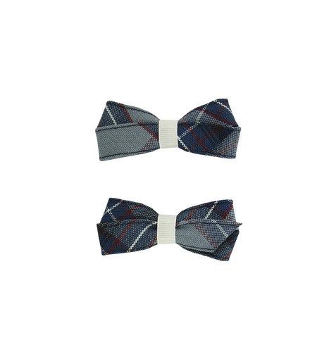 EE Dee Trim Dunbar Plaid #82 Pigtail Bows #FBE164
