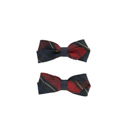 EE Dee Trim Woodland Plaid #94 Pigtail Bows #FBE164