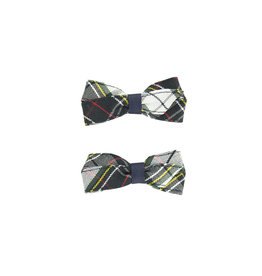 EE Dee Trim Marymount Plaid #8B Pigtail Bows #FBE164