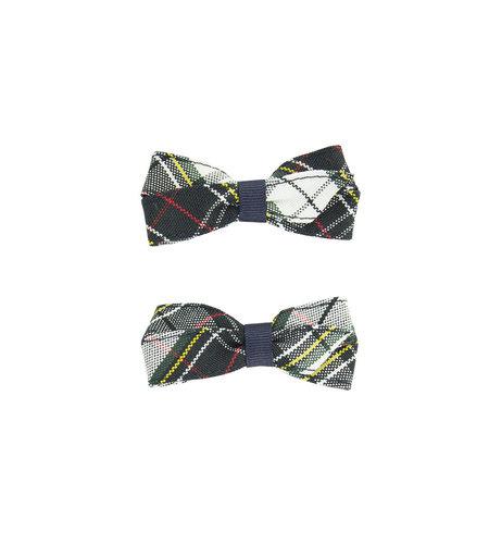 EE Dee Trim Marymount Plaid #8B Pigtail Bows #FBE164