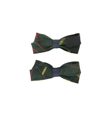 EE Dee Trim Aberdeen Plaid #5L Pigtail Bows #FBE164