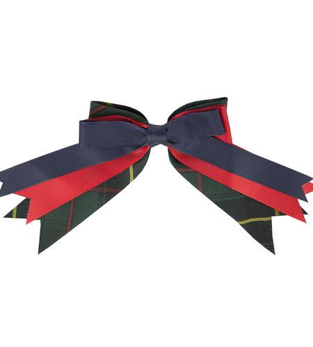 EE Dee Trim Aberdeen Plaid #5L Triple Layer Bow #FBE189