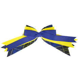 EE Dee Trim Mayfair Plaid #92 Triple Layer Bow #FBE189