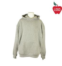 Soffe Upper School Oxford Grey Hooded Pullover Sweatshirt #9289