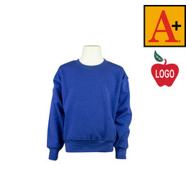 School Apparel A+ Royal Blue Crew-neck Sweatshirt #6254