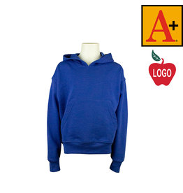 School Apparel A+ Navy Blue Hooded Pullover Sweatshirt #6246