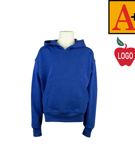 School Apparel A+ Navy Blue Hooded Pullover Sweatshirt #6246