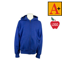 School Apparel A+ Royal Blue Full Zip Sweatshirt #6247