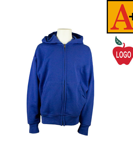 School Apparel A+ Royal Blue Full Zip Sweatshirt #6247
