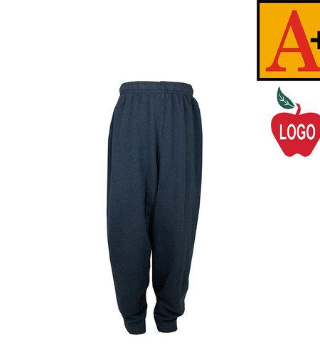 School Apparel A+ Navy Blue Sweatpants #6231