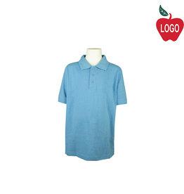BAW Columbia Blue Short Sleeve Polo #ED365