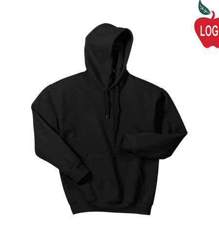 Gildan Black Pullover Hooded Sweatshirt #18500