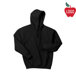 Gildan Pullover Hood Black Sweat #18500