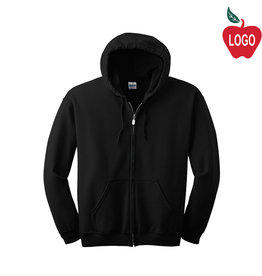 Gildan Zip Hood Black Sweat #18600