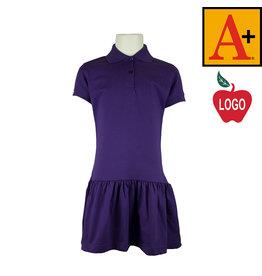 School Apparel A+ Purple Short Sleeve Knit Dress #9729