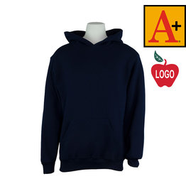 School Apparel A+ Navy Blue Hood Sweatshirt #6246