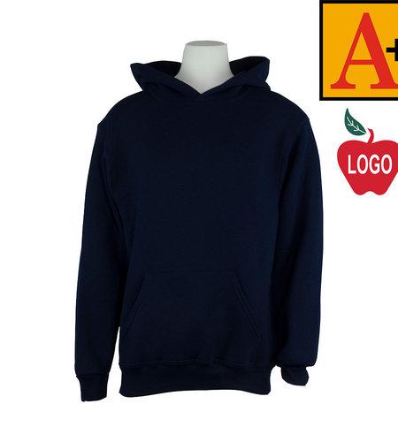 School Apparel A+ Navy Blue Hood Sweatshirt #6246